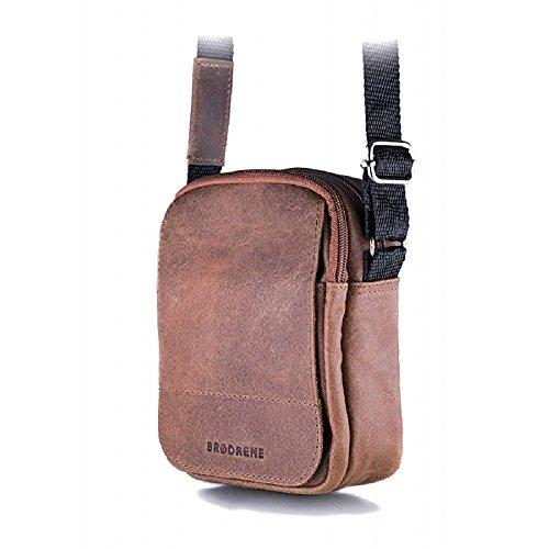Brodrene In Vera Pelle Da Uomo Con Tracolla Ipad Bag Premium Bl04 Marrone Chiaro