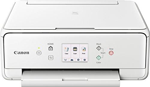 Canon PIXMA TS6151 Farbtintenstrahl-Multifunktionsgerät (Drucken, Scannen, Kopieren, 5 separate Tinten, WLAN, Print App, automatischer Duplexdruck, 2 Papierzuführungen) weiss (Weiße Drucker Tinte)