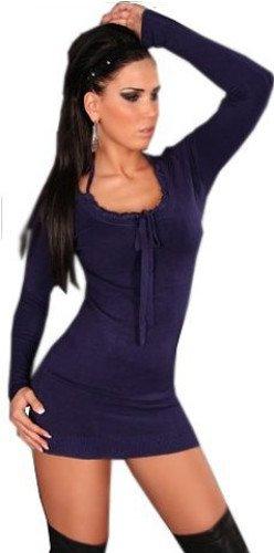 in-style-damen-strickkleid-longpulli-langarmelig-einheitsgrosse-36-40-blau