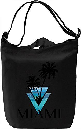 Miami Car Flag (miami triangle palms city ocean Leinwand Tagestasche Canvas Day Bag| 100% Premium Cotton Canvas| DTG Printing|)