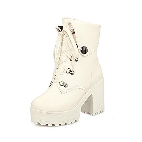 AdeeSu Girls Fashion Cone-Shape Heel Round Toe Wheeled Heel Shoes
