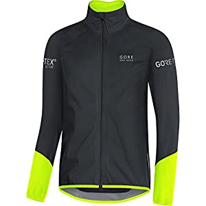 Gore Bike Wear, Chaqueta para Ciclismo en Carretera, Hombre, Tex Active, Power Jacket, Talla L, Negro/Amarillo neón, JGTPOW