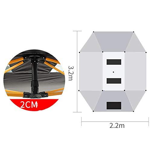 LIXIONG Auto-Zelt Regenschirm Draussen Tragbar Autos Sonnenschutz Beweglich Carport Gefaltet Schutz Überdachung Diebstahlsicherung Angeln Grill, 2 Stil (Color : A, Size : 3.2x2.2cm)
