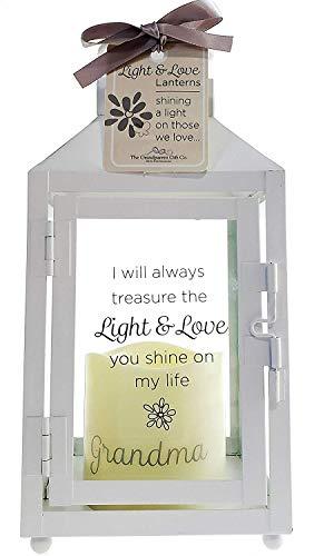 The Grandparent Gift Co. Licht und Love Laternen-Großmutter Verlust Memorial Laterne mit Licht LED Kerze-Schöne schmerzlichen Verlust/Trauer Geschenk-25,4x 12,1x 12,1cm -