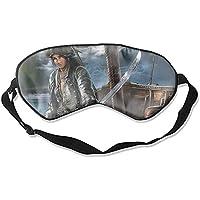 Schlafmaske mit Piraten-Druck, verstellbarer Kopfband, Augenmaske preisvergleich bei billige-tabletten.eu