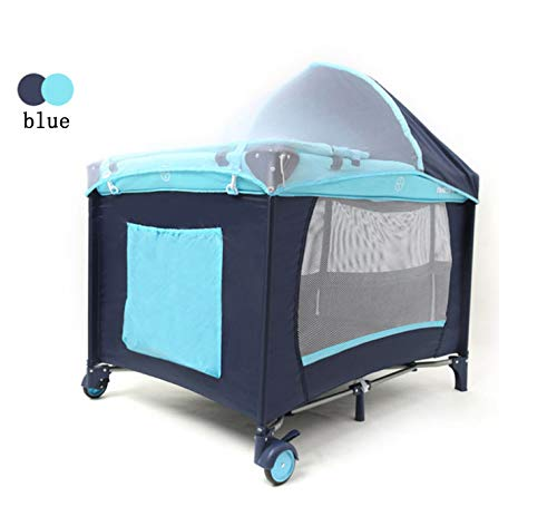 Mr.LQ Crib Folding Crib Multi-Function Game Bed Portable Bunk Bed Crib Fence Custom Baby Game Bed Bed,Green  1, atmospheric design (European style, atmospheric design) 2, health and environmental protection (baby play peace of mind) 3, multi-function (sleep and play two functions) 6