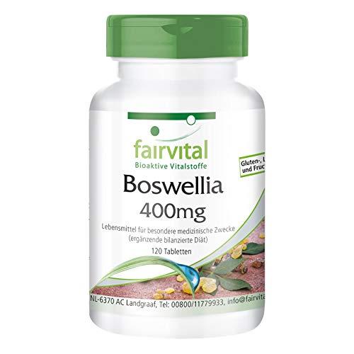 Boswellia Incienso 400mg - 120 comprimidos VEGANO - Boswellia serrata 65% boswellicos - ¡Calidad Alemana garantizada!