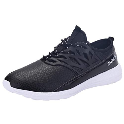 SOMESUN - Scarpe da Uomo Leggere Sneakers in Pelle Casual Scarpe Comode Traspiranti Uomo Scarpe da Ginnastica Corsa Scarpe Sneaker Outdoor Scarpe Sportive