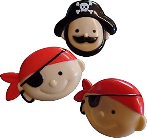 Pirate Face Rings Cup Cake Toppers (Pack Of 12)