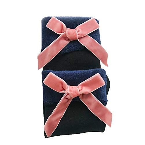 Solid Color Knie-socken (CoURTerzsl Socken,Weiche Haptik, Gute Elastizität, Starke Wärme und Feuchtigkeitsaufnahme Wintermode Frauen Solid Color Bowknot Fleece Futter warme elastische Rohr Socken Pink)