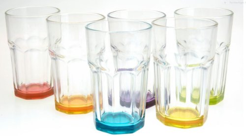 Caipirinha Caipi Gläser bunt 6 Stück bis zu 3 Farben möglich im Set - keine Auswahl möglich