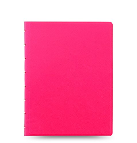 Filofax Saffiano Fluoro A5 Notizbuch in Rosa | Neue 2018 Farbe!