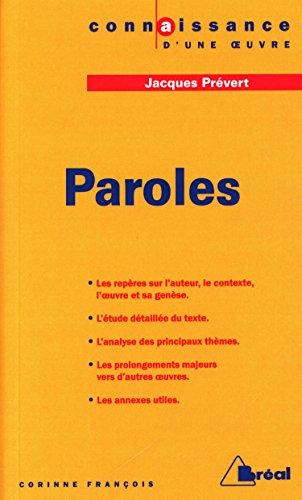 Paroles, Jacques Prévert