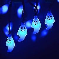 AchidistviQ - Luces para Halloween, 30 ledes, Solar, para Halloween, Fiestas de Interior, Halloween, decoración para Halloween
