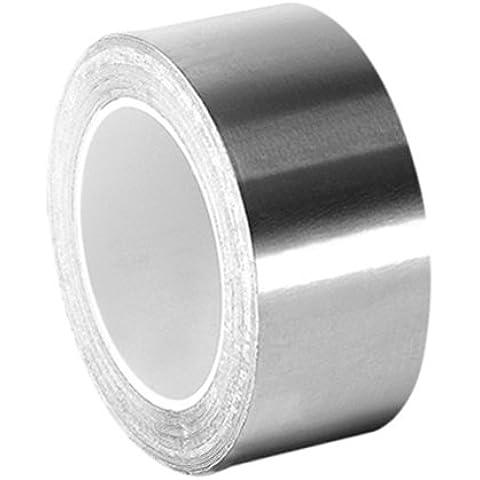 TapeCase 0, 625-3-3361 in argento, ad alta temperatura in acciaio INOX/acrilico-Nastro di foglio in alluminio, 1,59 (0,625 cm, 3 x 3 m, spessore: 0,01 (0,0038 cm, lunghezza (3 7,62 cm, larghezza 1,59 (0,625 cm