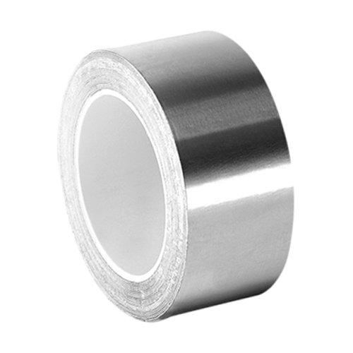tapecase 0,75-3-3361Silber Hohe Temperatur Edelstahl/Acryl Folie Klebeband, 1,9cm X 3Yd Rolle, 0cm Stärke, 7,6cm Länge, 1,9cm Breite - Edelstahl Folie
