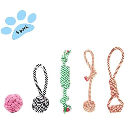 regalos tus mascotas mas kawaii 5 Piezas Juguetes para Cuerda Del Perro,Juguetes para Perros Mascotas (Color al Azar)