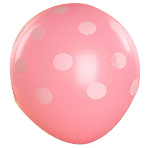 en-Hochzeit / Heiraten Partei Dekors Hand-Hold-Ballons (Rosa Tupfen-luftballons)