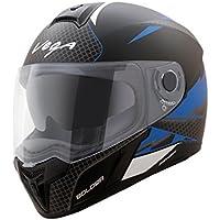 Vega Ryker Bolder Full Face Helmet (Dull Black/Blue, M)