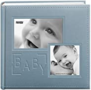 "Pioneer Photo Albums 200-Pocket Embossed ""Baby"" Leatherette Frame Cover Album for 4 by 6-Inch Pr"
