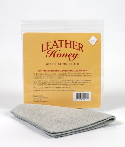 Preisvergleich Produktbild Leather Honey Lint-Free Application Cloth - Perfect for Use with the Best Leather Conditioner Products Since 1968 - Leather Conditioner + Leather Cleaner Microfiber Cloth by Leather Honey Leather Conditioner