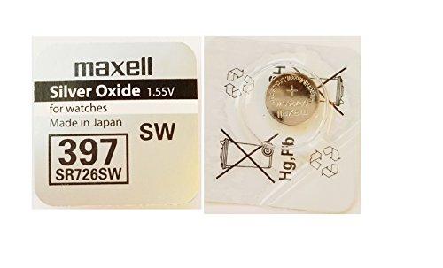 Zwei Knopfzelle MAXELL SR726SW/397 (Taschenrechner Terminkalender)