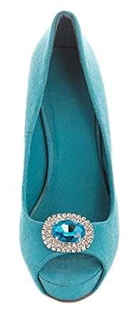 Clips pour chaussures Bleu Myosotis