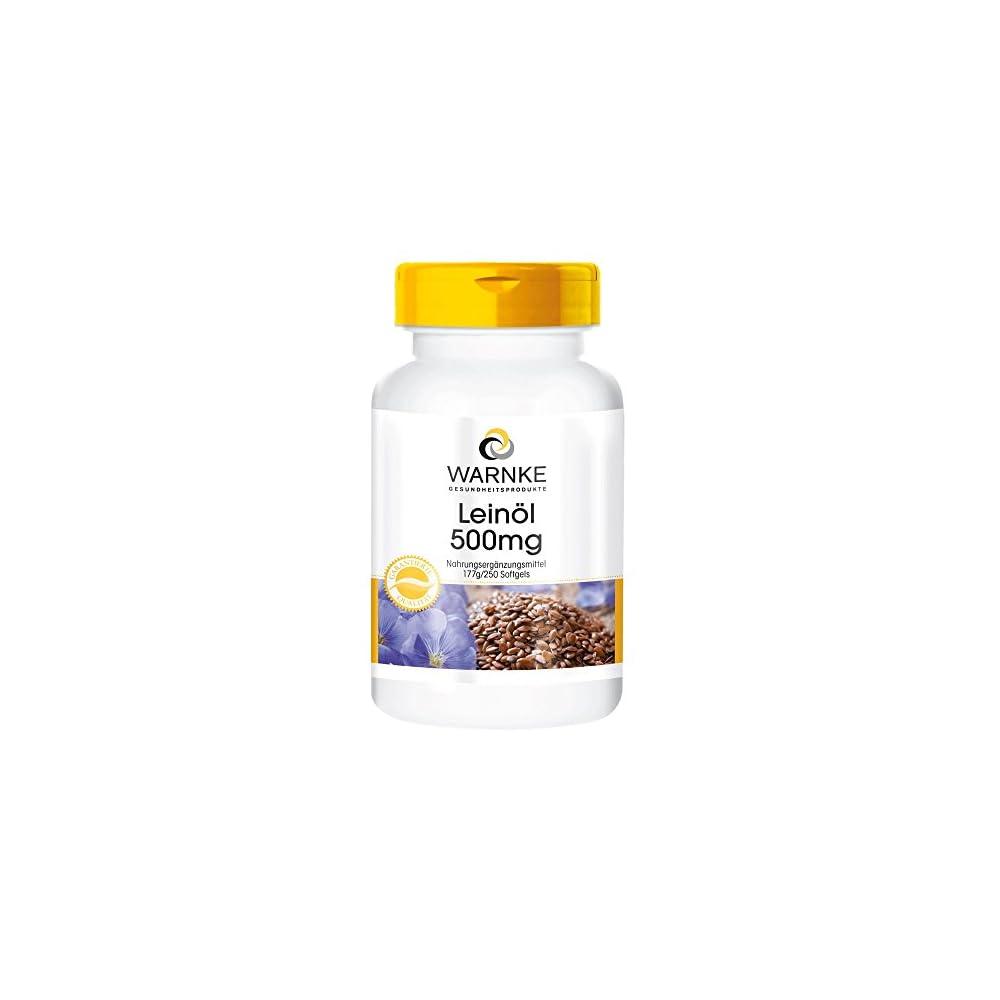 Warnke Gesundheitsprodukte Leinl 500 Mg Kaltgepresst 58 Prozent Alpha Linolensure Omega 3 Fettsure 250 Softgels Gropackung 1er Pack 1 X 177 G