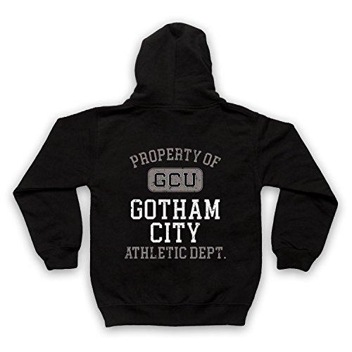 The Guns Of Brixton Justice League Cyborg GCU Gotham City Athletic Dept Kinder Kapuzensweater mit Reißverschluss, Schwarz, 5-6 Jahren - City Tv Brust