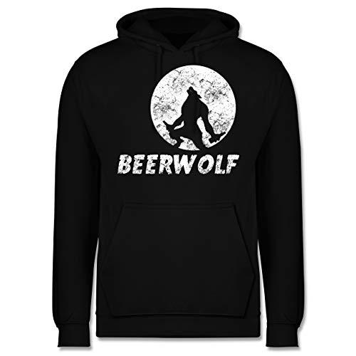 Statement Shirts - Beerwolf - 3XL - Schwarz - JH001 - Herren Hoodie