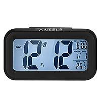 إنذار الأسود ساعة رقمية الصمام الخفيفة التحكم في الإضاءة الخلفية الوقت التقويم ميزان الحرارة