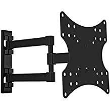 """deleyCON Soporte universal de pared para TV 23""""-42"""" pulgadas (58-107cm) inclinable y rotatorio - 20Kg - hasta VESA 200x200 Plasma LCD LED OLED TFT"""