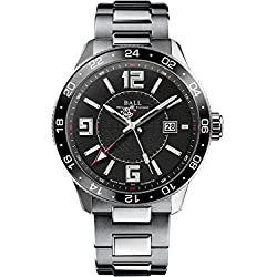 Reloj Ball Engineer Master II Pilot GMT, Ball RR1201, Negro, Brazalete de acero