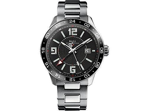 Ball Engineer Master II Pilot GMT Uhr, Ball RR1201, Schwarz, Stahlband,
