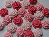 10 Sugar Flowers, Mini Fondant Roses - Wedding Favours Candy, Cupcake Toppers, Spring Wedding, Birthday Cake Toppers