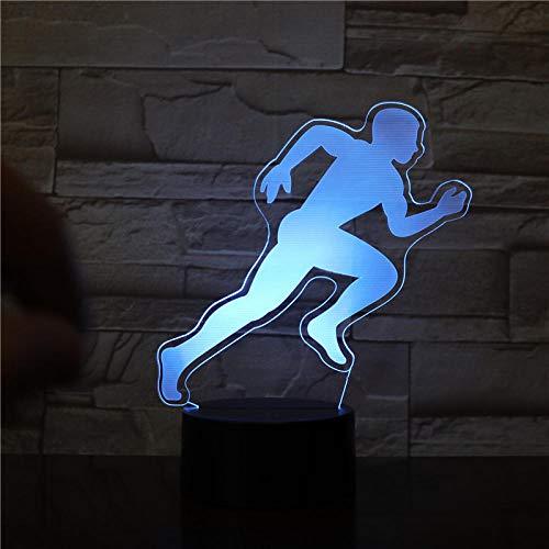 3D IllusionLampe Sport Leichtathletik Nachtlicht USB 7 Farben ändern LED Dekor Kinder Geschenk XIAOMAIBU-Fernbedienung
