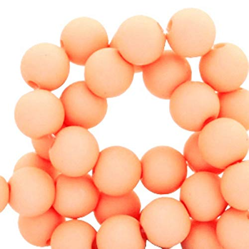 rlen Acrylperlen matt, Orange, 4 mm, 1000 Stück, Perlen Armbänder basteln, DIY Schmuck, Pfirsich ()