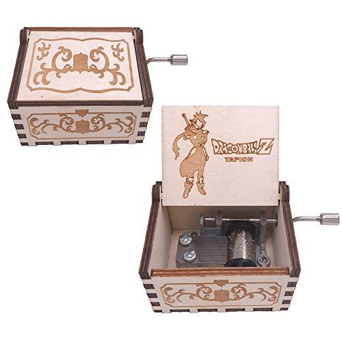 FnLy - Caja de música con Forma de Bola de dragón grabada en Madera, diseño de zemón, Tallada a Mano, tamaño pequeño, Caja de Regalo Musical