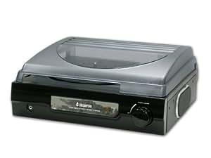 Steepletone ST918 3 Speed Record Player/Turntable Black