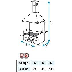 El zorro M263242 - Cajon barbacoa con chimenea y parrilla imex 150 x 61 x 40