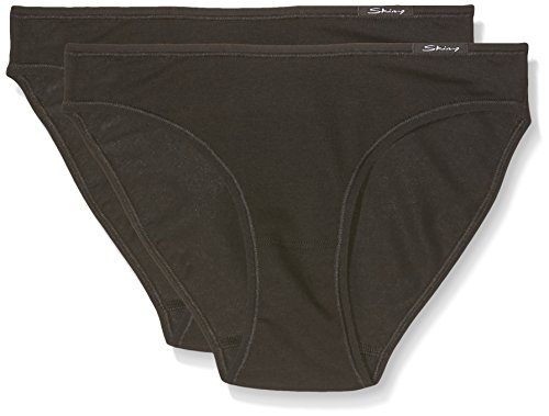 Skiny Damen Rio Slip Advantage Cotton Rio Slip 2er Pack, Gr. 38, Schwarz (7665 BLACK) (Schwarz-slips)