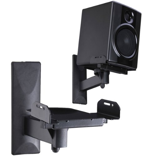 VideoSecu Side Clamping Bookshelf Speaker Wall Mount - Sturdy Steel Gripping Bracket (one pair) 3LH  available at amazon for Rs.8389