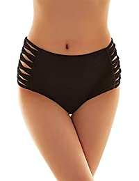 SUNNOW Femme Bas Bikini Maillot de Bain Taille Haute Sexy String tanga Femmes Sexy Tissent Culotte Femmes Shorts Maillots de Bain Swim