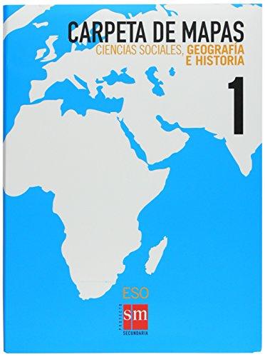 Ciencias sociales, geografía e historia. 1 ESO. Carpeta de mapas - 9788467534184 por Equipo de Educación Secundaria de Ediciones SM