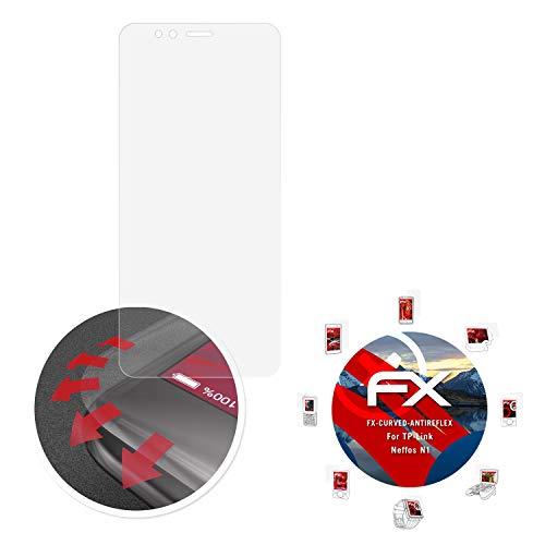 atFolix Schutzfolie passend für TP-Link Neffos N1 Folie, entspiegelnde & Flexible FX Bildschirmschutzfolie (3X)