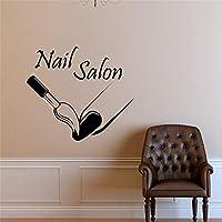 Fashion Nail Salon Applique Nail Polish Modern Vinyl Wall Sticker Girl Beauty Nail Salon Wallpaper 52Cmx57Cm