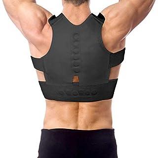 Magnetic Neoprene Corset Belt for Back Brace Posture Corrector Straightener Shoulder for,Black,L