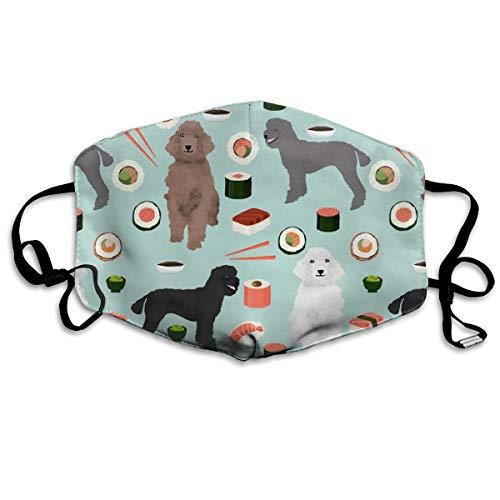 Bentonit-ton Reinigung (Pudel-Masken für Hunde, Sushi, süßer Pudel, verschiedene Farben, Anti-Staub-Maske, Anti-Verschmutzung, waschbar, wiederverwendbare Mundmasken)