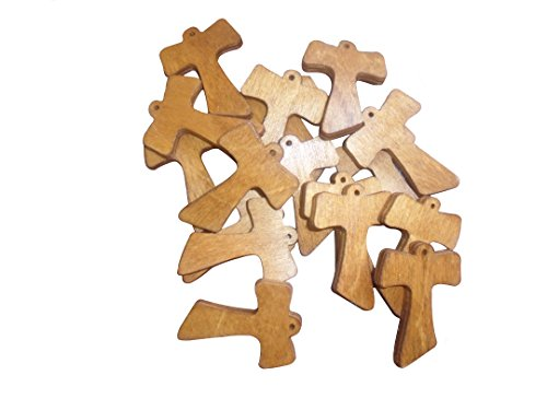 Croce tau in legno 10 pz