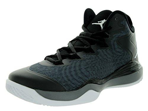 Nike Jordan Super Fly 3 Black Grey Youths Trainers - 684936-003 Black Grey